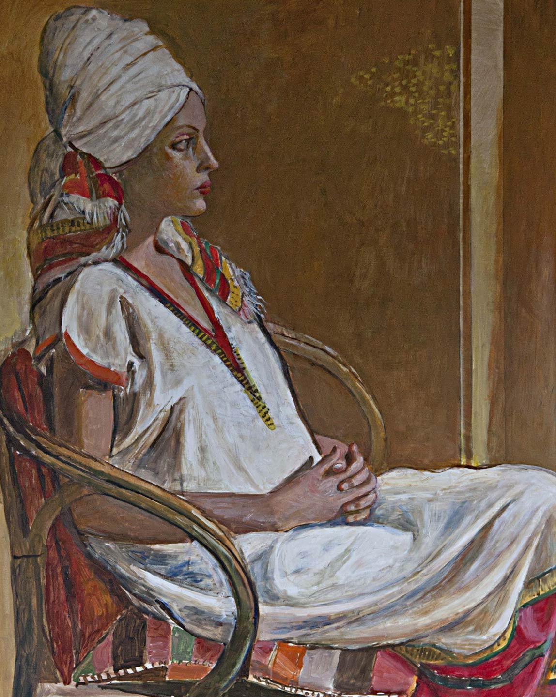 Ahlam con il vestito etiope