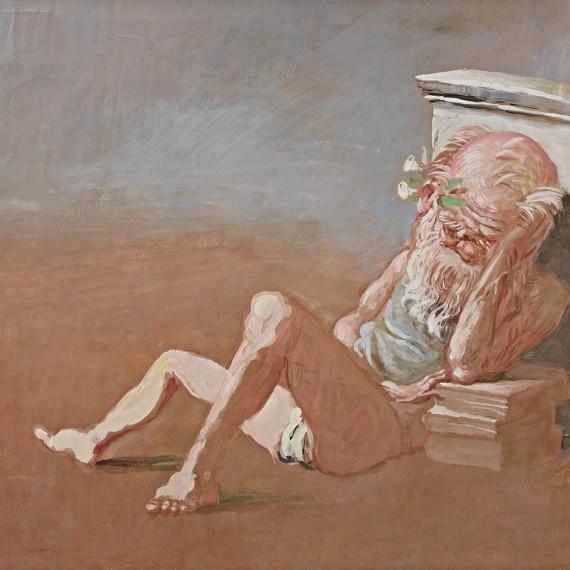 Il-sonno-del-filosofo_1985_tempera-su-cartone-70x50-vito-tongiani