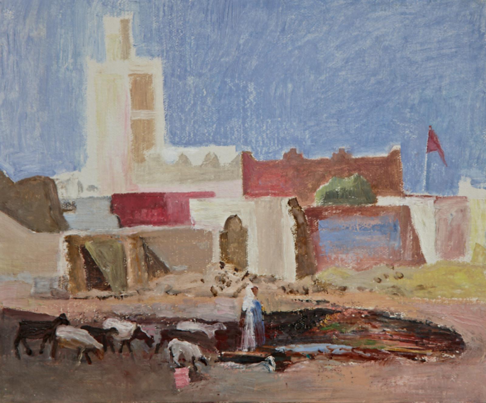 Bandiera marocchina sulle rovine di Harnel