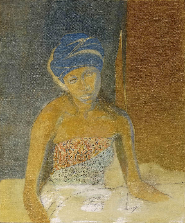 Lena con turbante blu